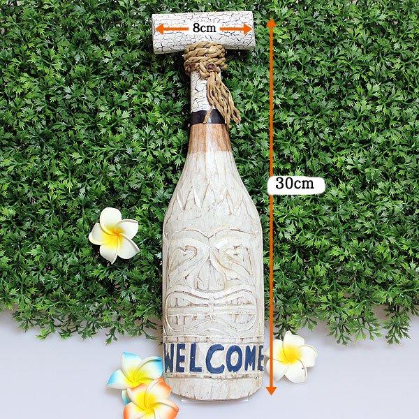 【ハワイアン雑貨】ウッドサインボード パドルMINI/TIKI WEL COM
