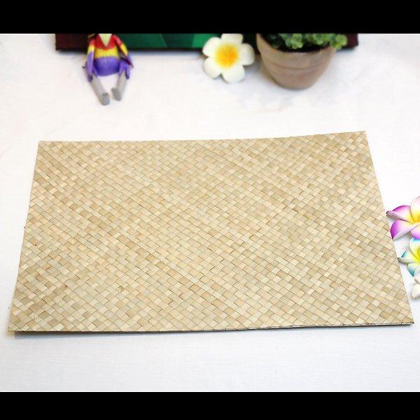 ハワイアン/ラウハラランチョンマット/ナチュラル(長方形)