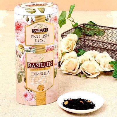 ★☆★NEW★☆★  <br/>BASILUR  ENGLISH ROSE(茶葉50g入り) <br/>+ DIMBULA(茶葉75g入り)