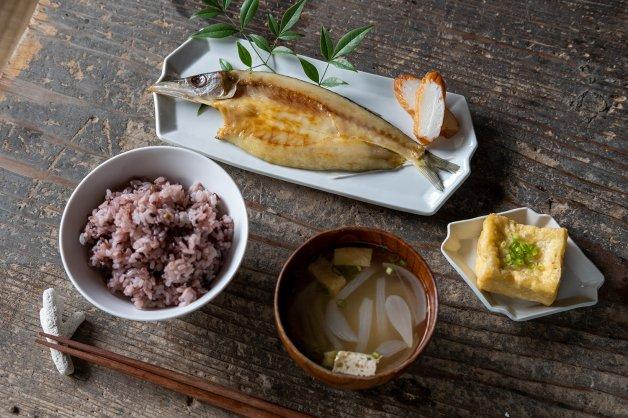 山下商店の朝食セット 和食