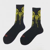 HIFUMIYA Drip Socks (BLK×YEL)