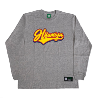 HIFUMIYA Emblem Long Sleeve T-Shirt (GRAY)<img class='new_mark_img2' src='https://img.shop-pro.jp/img/new/icons13.gif' style='border:none;display:inline;margin:0px;padding:0px;width:auto;' />