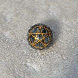 遠野霊石 五芒星 ビーズ 14mm