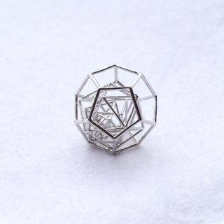 プラトン立体ペンダント Silver