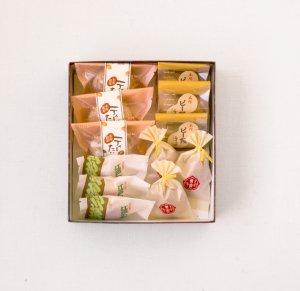 和菓子折(12個入り)ティータイム・ピー饅・男爵・江戸の華