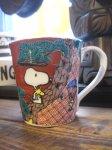 九谷焼✕スヌーピー マグカップ 赤絵