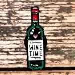 ☆  ワインタイム ピンバッチ 赤ワイン ボジョレヌーボー ワイン ボトル ワイナリー ソムリエ ピンバッジ ☆