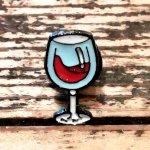 ☆ワイングラス ピンバッチ 赤ワイン ボジョレヌーボー ワイン   ワイナリー ソムリエ ピンバッジ ☆