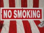 LA直輸入!プラスティック看板 NO SMOKING ノースモーキング禁煙