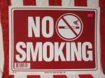LA直輸入!プラスティック看板 NO SMOKING NO.2 ノースモーキング禁煙