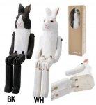 特大 木彫り人形  うさぎ ウサギ アニマルトイ/WOOD ANIMAL TOY Animal BIG 2種