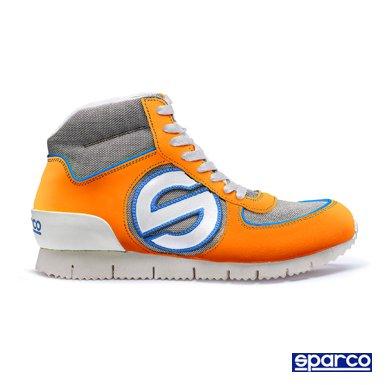 スパルコ(SPARCO) ジュネシス ハイ スニーカー(GENESIS H SNIKER) オレンジ/ブルー