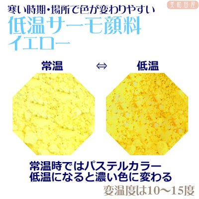 低温サーモ顔料 イエロー(低温で色が変わるレジン着色顔料)