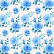 【プティラドゥオリジナル生地】ロイヤルローズ【プリンセスブルー】