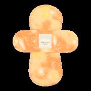 【ホルダー単品】 布ナプキン・Sサイズ 【宇宙柄 タンジェリン】