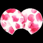 【マスターローン×オーガニックコットン】 授乳がハッピーになる母乳パッド / ローズシャワー(マゼンタ)