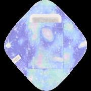 【ダブルガーゼ・ポケットつき♪】 ひし形ライナー / 魂キラッキラ♡宇宙柄(アクアソーダ)