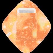 【ダブルガーゼ・ポケットつき♪】 ひし形ライナー / 魂キラッキラ♡宇宙柄(タンジェリン)