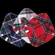 【冬限定・タータンチェック起毛】  ポケット付き ひし形ライナー3枚セット