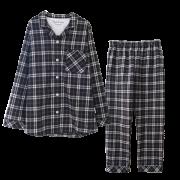 【 至福の夢見るぬくぬくパジャマ 】 タータンチェック ( チャコールグレー )