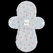 【ホルダー単品】 布ナプキン・Mサイズ(そよ風爽やかストライプフラワー・ストライプブルー)