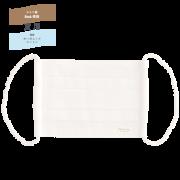 夏用◆Etak®&オーガニックコットン使用◆とろけるマスク<br> 【 プリーツタイプ:無地(ホワイト)】
