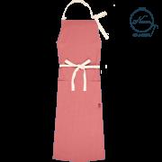 【カラーリネンエプロン:ホルターネックタイプ】 オーキッドピンク