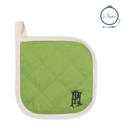 【カラーリネンポットホルダー】 グラスグリーン