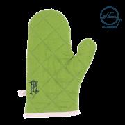 ■左手■【カラーリネンミトン】 グラスグリーン