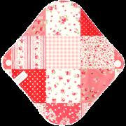 【Sサイズ】小さなローズのパッチワーク(レッド)