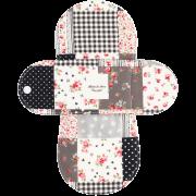 【ホルダー単品】 布ナプキン・Sサイズ(小さなローズのパッチワーク:ブラック)