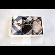 【BOX入り】キッチンクロスセット(オリジナル染めリネンブロックチェック)