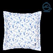 【45cm角クッションカバー スクエア】 フランスの小鳥 (ブルー)