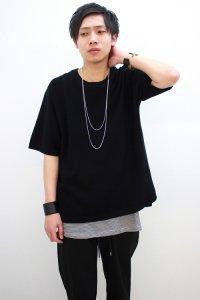 VICTIM[ヴィクティム] KNIT TEE<ニットTシャツ> #ブラック