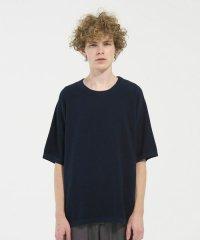 VICTIM[ヴィクティム] KNIT TEE<ニットTシャツ> #ネイビー