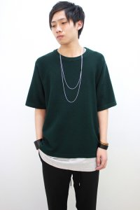 VICTIM[ヴィクティム] KNIT TEE<ニットTシャツ> #グリーン