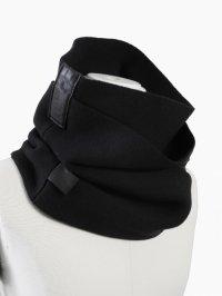 【2016AW 先行予約】PATRICK STEPHAN / Rib scarf 'double' 162ASF23<ダブルスヌードマフラー(ネックウォーマー)> #ブラック