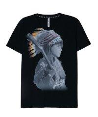 glamb [グラム] Indian girl TEE<インディアンガールTシャツ> #ブラック