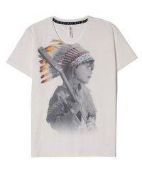 glamb [グラム] Indian girl TEE<インディアンガールTシャツ> #ホワイト