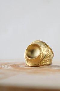 NARRATIVE PLATOON [ナラティブプラトゥーン] Reverse College Ring<リバースカレッジリング> #マットゴールド