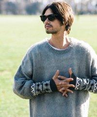 【2016WINTER 先行予約】glamb MONOTONE [グラムモノトーン] Tribal sleeve knit<トライバルスリーブニット> #2色展開