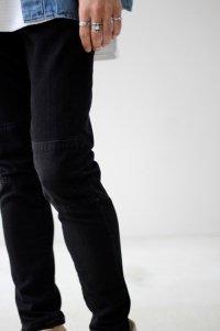 VICTIM [ヴィクティム] PATCH DENIM PANTS<パッチデニムパンツ> #ブラック