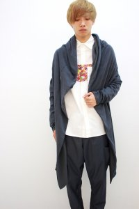 rehacer [レアセル] Cart Road Drape Cardigan<カートロードドレープカーディガン> #グレー