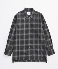 VICTIM [ヴィクティム] DAMEGE CHECK SHIRTS<ダメージチェックシャツ> #ブラック