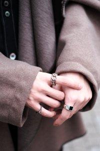 dip [ディップ] square onyx ring <スクエアオニキスリング(S)> シルバー×オニキス