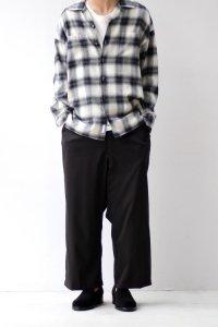 VICTIM [ヴィクティム] LOOSE CHECK SHIRTS<ルーズチェックシャツ> #ブラック