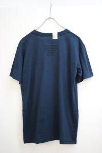 N.HOOLYWOOD [エヌハリウッド] 17-6223 : TPESBK アングル クルーネックTシャツ #ネイビー