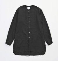 VICTIM [ヴィクティム] LONG GAUZE SHIRTS<ロングガーゼシャツ> #ブラック