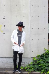 VICTIM [ヴィクティム] LONG GAUZE SHIRTS<ロングガーゼシャツ> #ホワイト