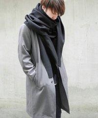 PATRICK STEPHAN [パトリックステファン] Jersey scarf 'wrap' 17aw<ビッグストール(ビッグマフラー)> ブラック